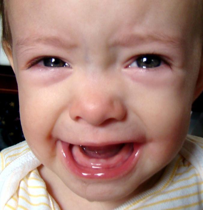 Появление зубов у грудника сопровождается плаксивостью и капризностью чада