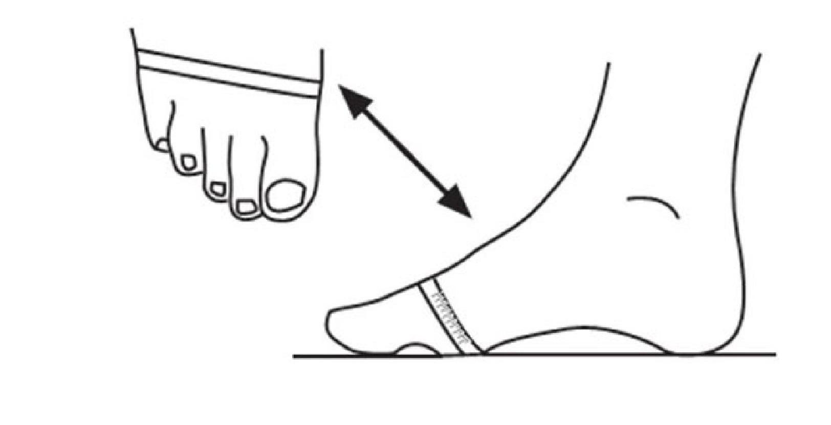 Полноту детской стопы можно измерить в ее самой широкой части