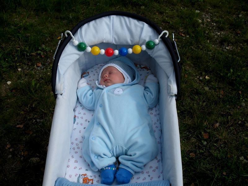 Спит в коляске