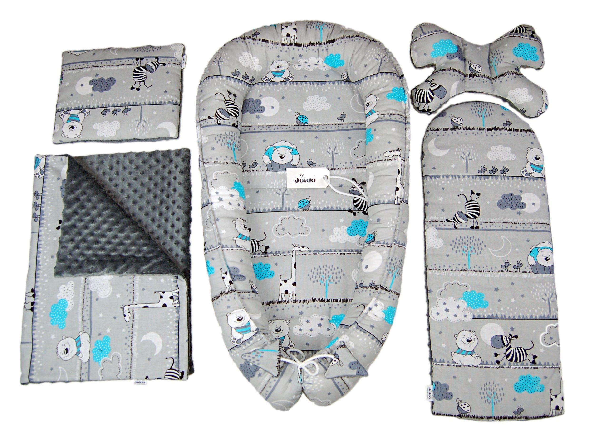 Полный набор: кокон с возможностью регулирования, дополнительный матрас для подросшего малыша, одеяльце, подушка