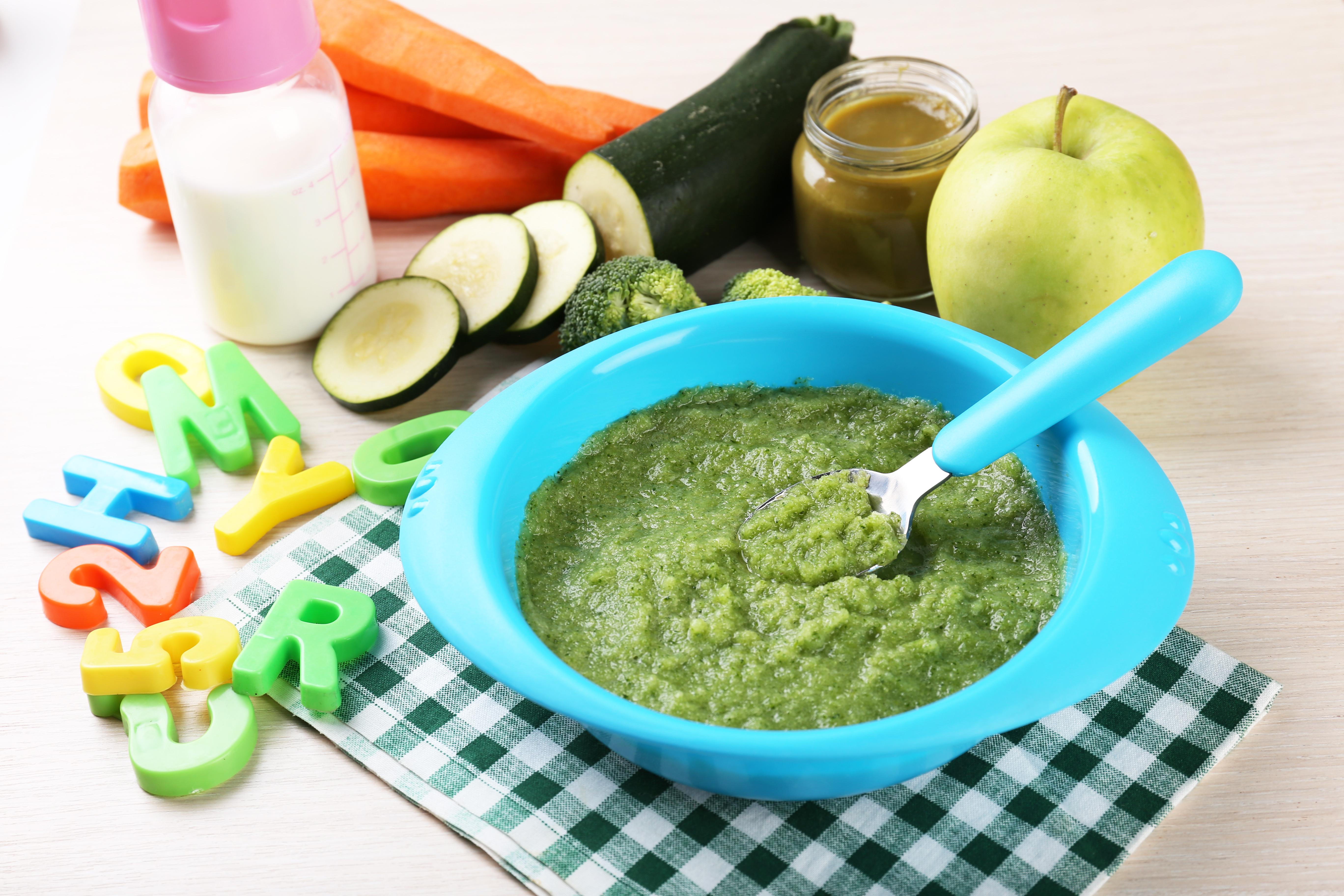 Объем порции овощного пюре на один прием пищи