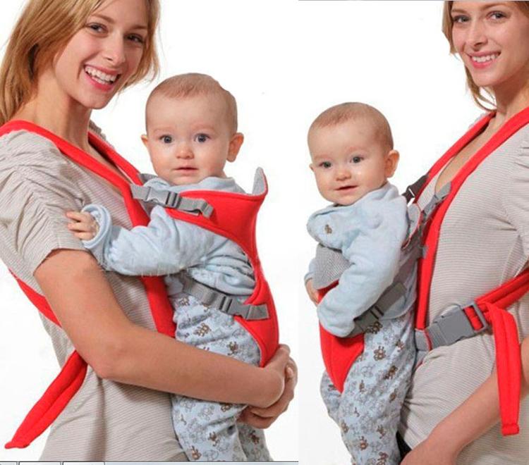 Начинать носить малышку в кенгуру можно только с 4 месяцев