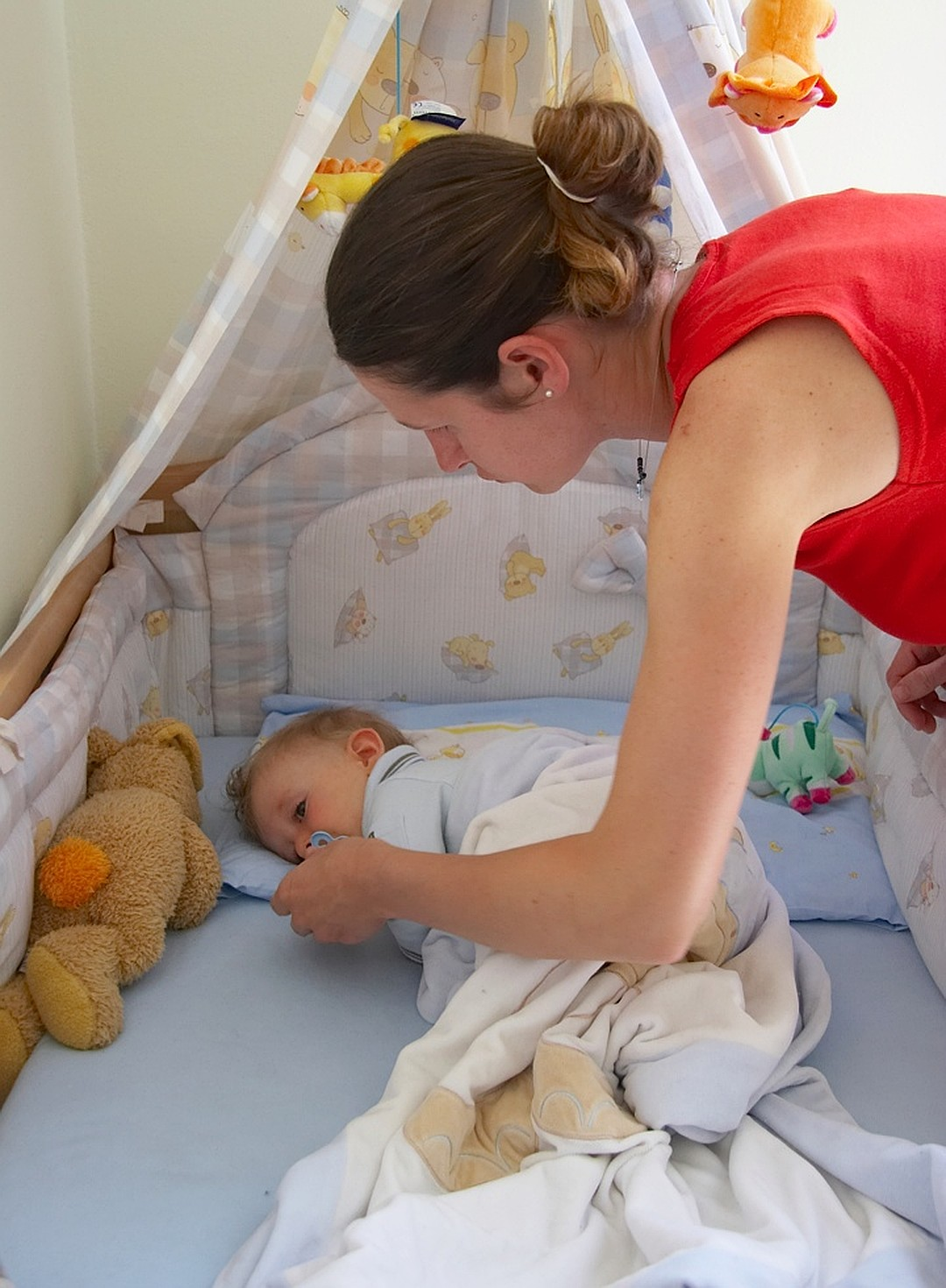 Укладывание малыша