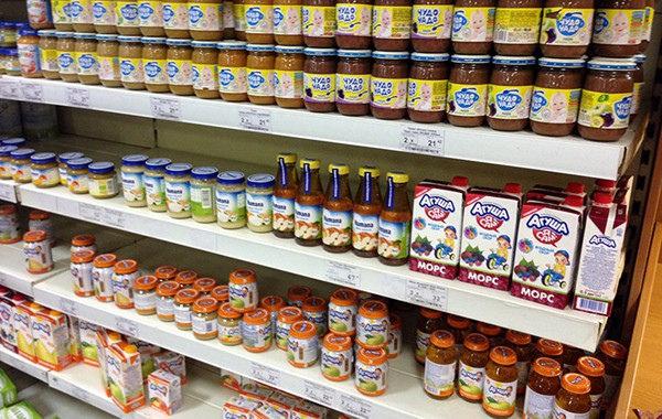 Большой выбор детского питания