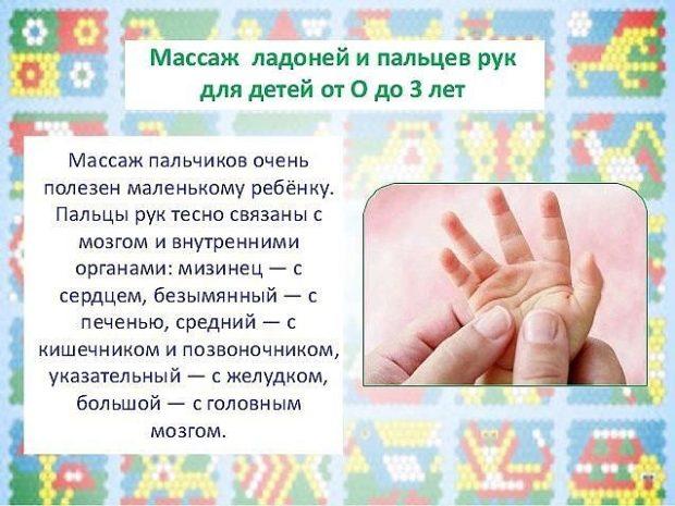 Массаж детских пальчиков