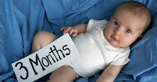 Ребенку исполнилось 3 месяца