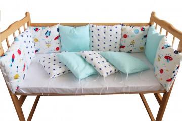 Бортики-подушечки, накладки из хлопка