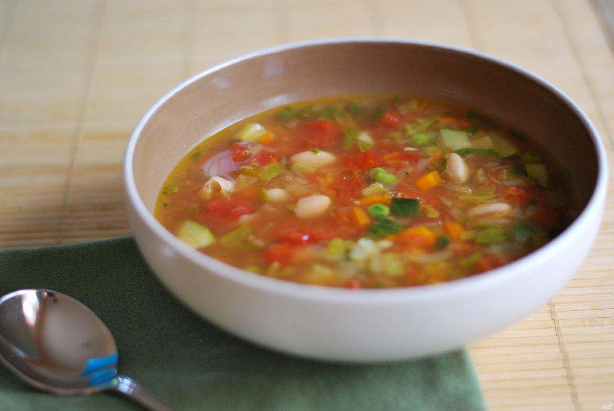 Яркий овощной суп