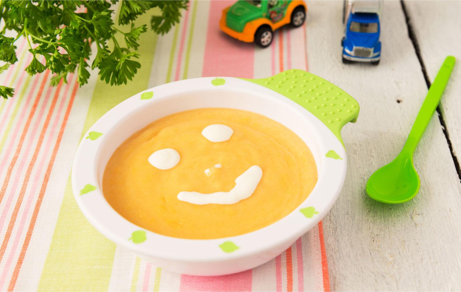 Если подать ребенку супчик на яркой тарелке, он будет есть с большим удовольствием