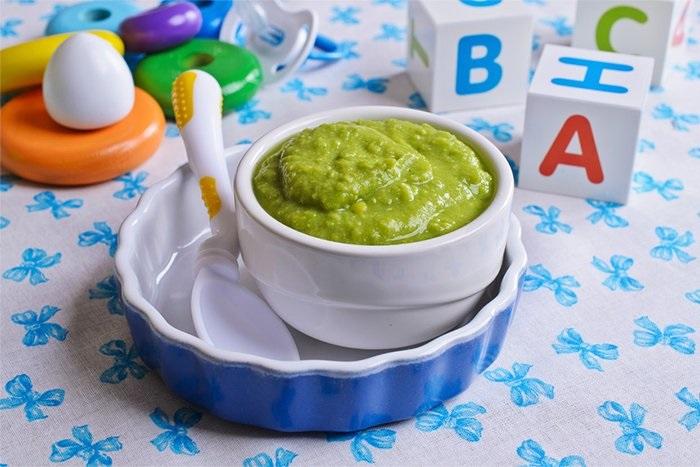 Супчик-пюре из зеленого горошка