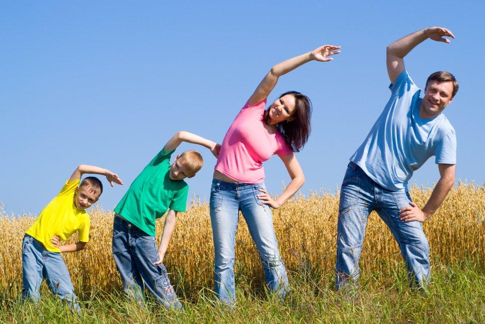 Спортивная привычка семьи