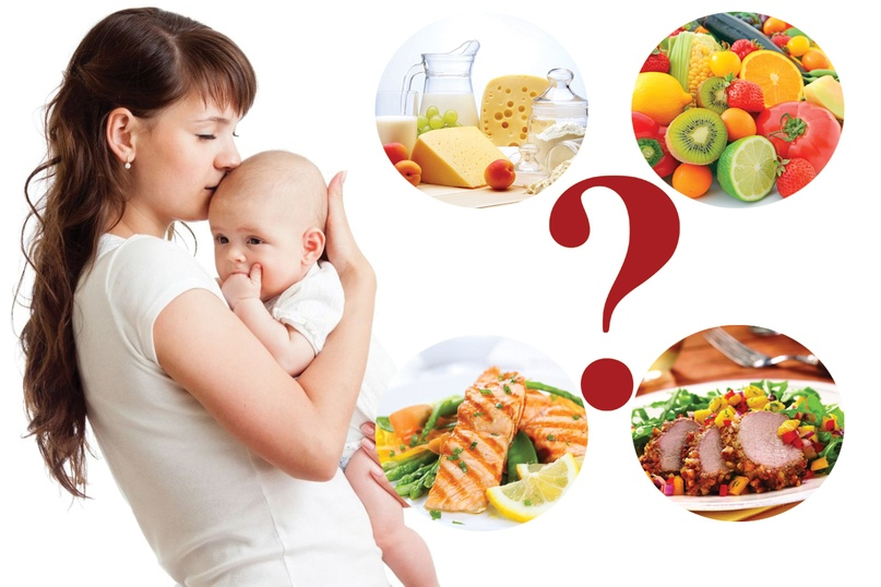 Рацион кормящей мамы отражается на ребенке