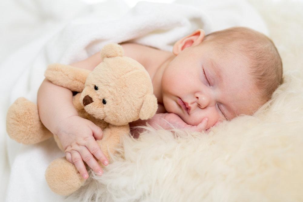 У младенца спокойный сон
