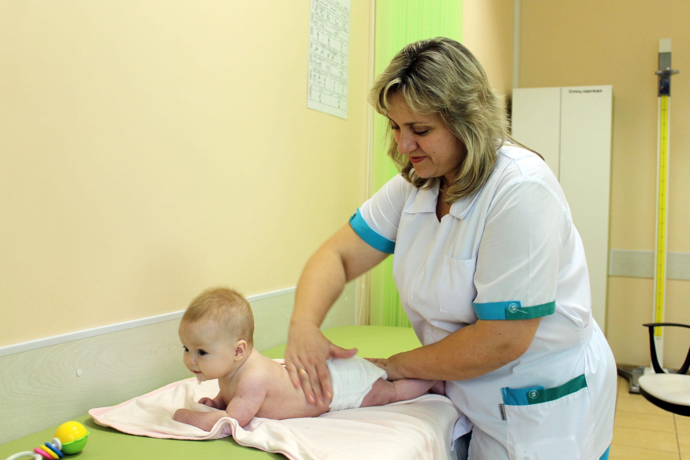 Работа детского массажиста