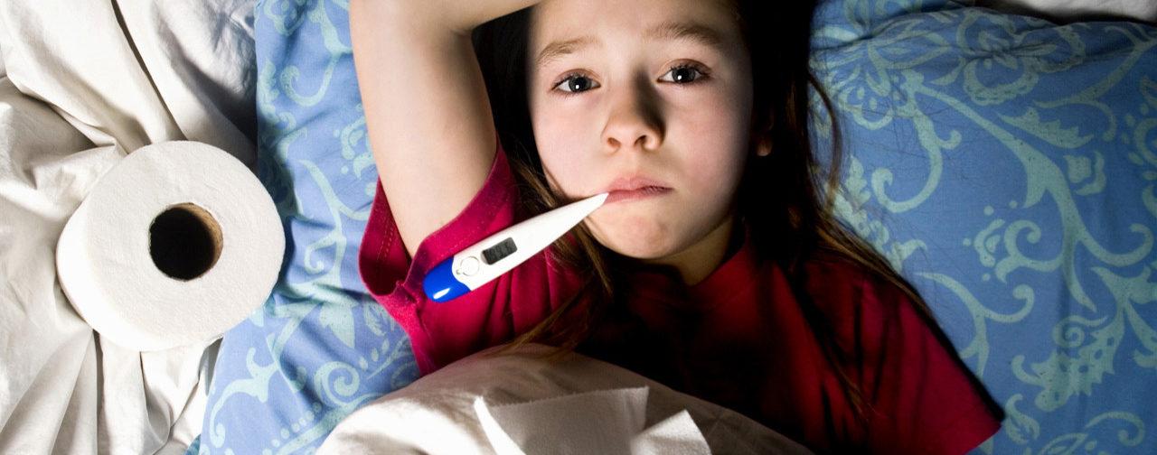 У девочки поднялась температура при обезвоживании