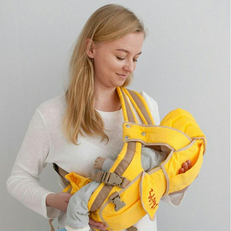 Пример продуманной сумки-кенгуру