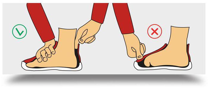 Определить тесную обувь можно так