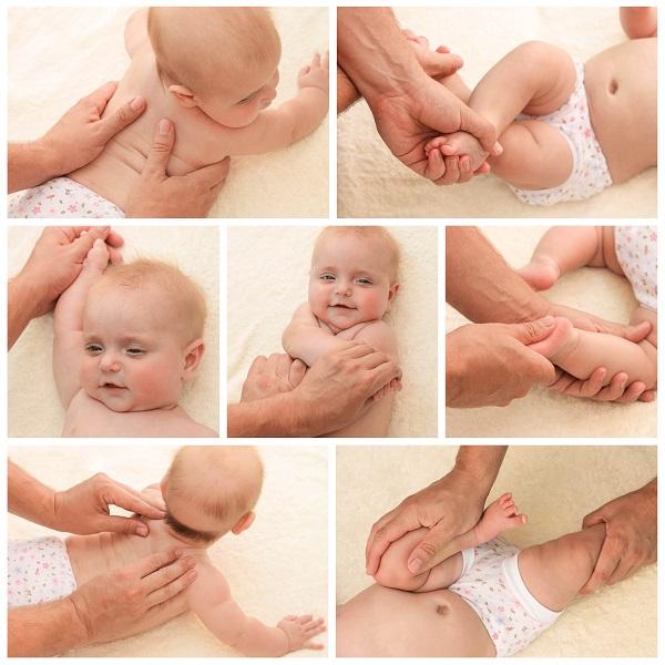 Пример гимнастики для грудничка