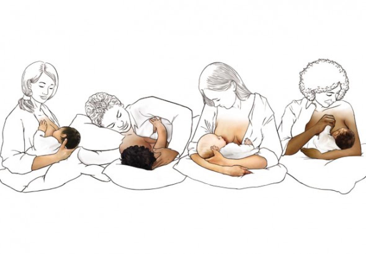 Позы для кормления ребенка
