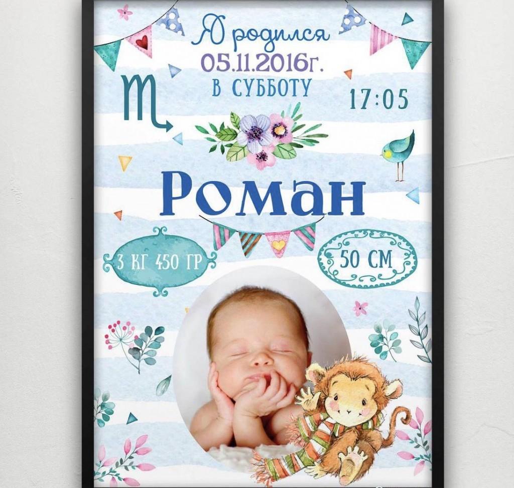 Постеры с новорожденными