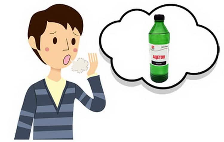 С запахом ацетона изо рта нужно начинать бороться сразу после его выявления