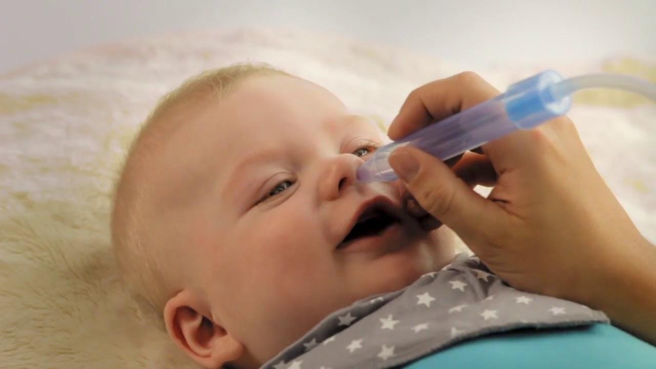 Применение аспиратора у младенцев