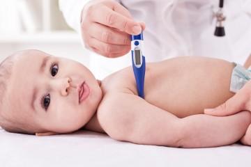 Малыш с термометром