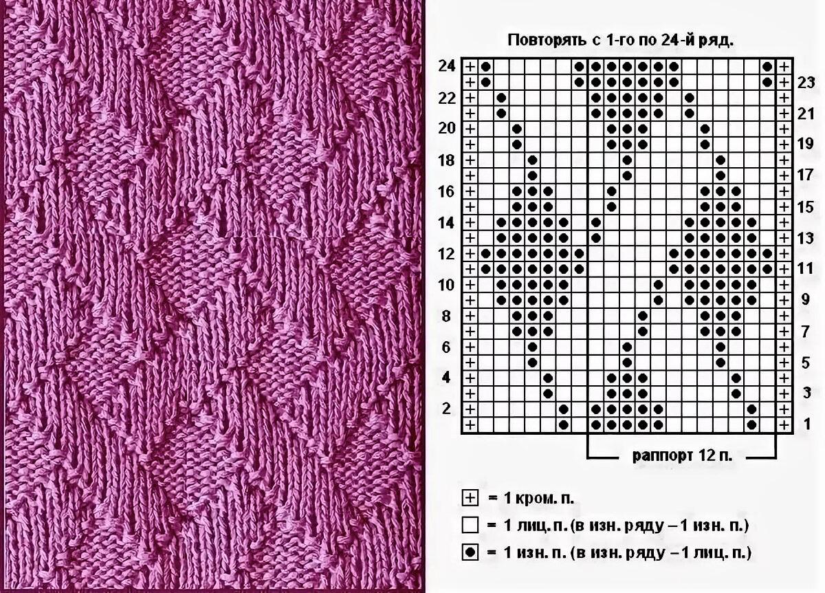 Схема узора «Плетенка»