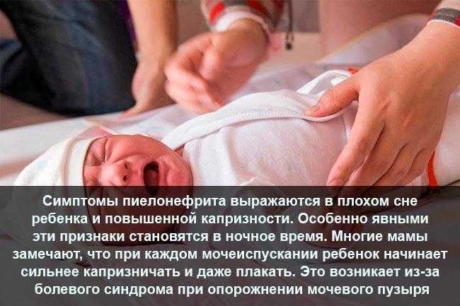 Симптомы пиелонефрита у новорождённых