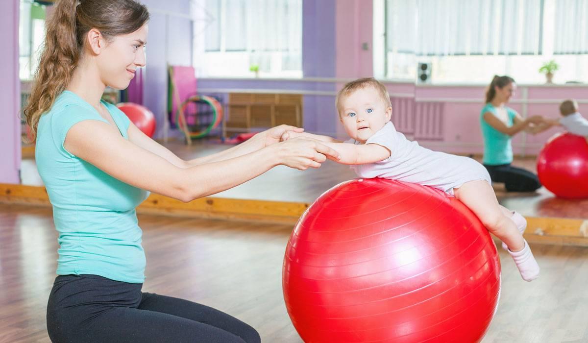 Младенческая гимнастика с мамой