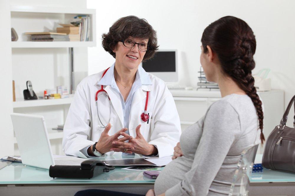 Беременная на приеме у гинеколога