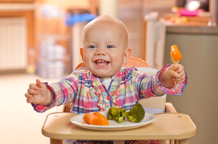В пище малыша должно быть много растительной клетчатки