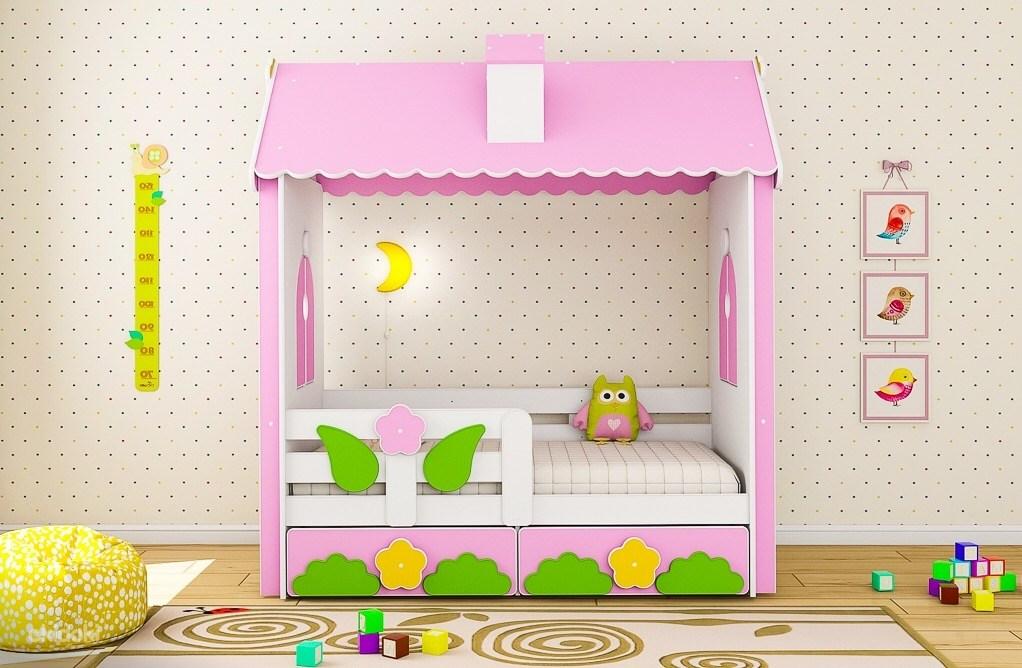 Собственная кровать уникального дизайна привлечет внимание ребенка
