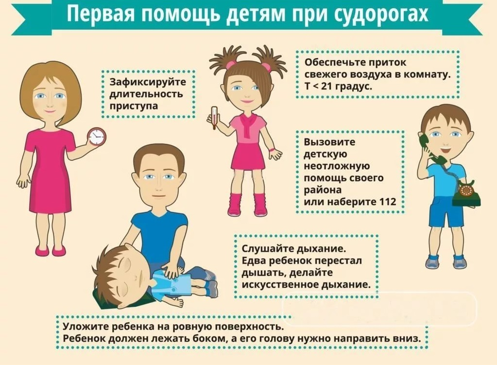 Первая помощь при судорогах у ребенка