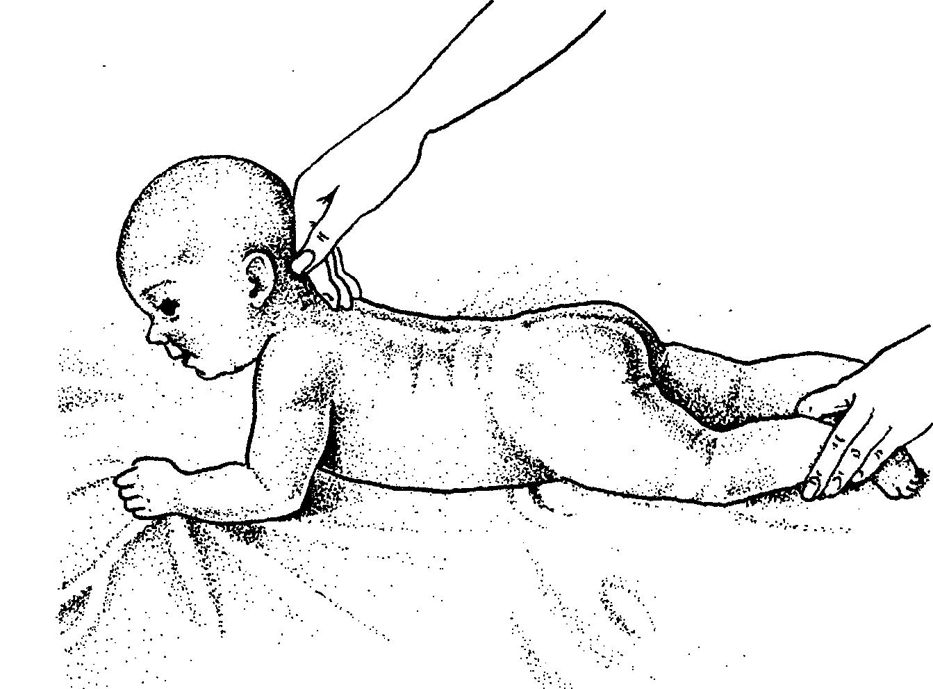Укрепление спины младенца