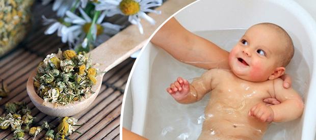 Расслабляющая ванна младенцу
