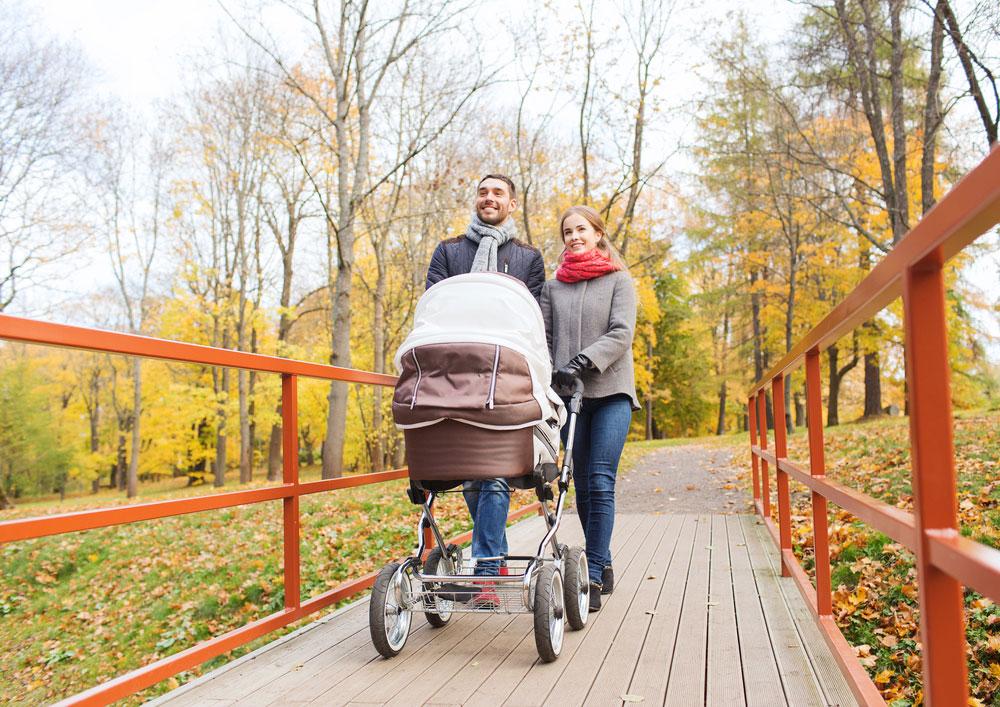 Осенние прогулки с младенцем