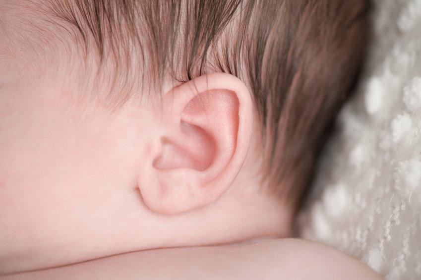 Нормальные уши младенца
