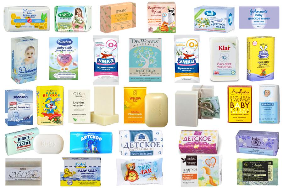 Детское брусковое мыло
