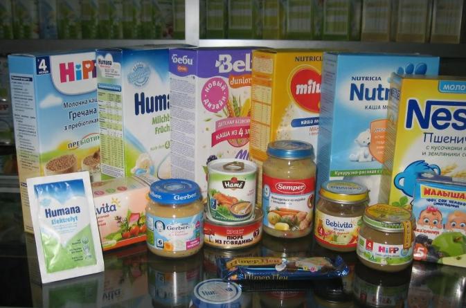 Разнообразие детского питания